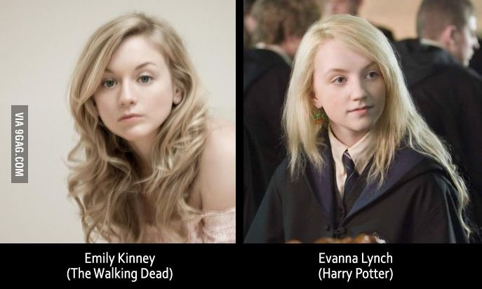Emily Kinney and Evanna Lynch - could be twins!