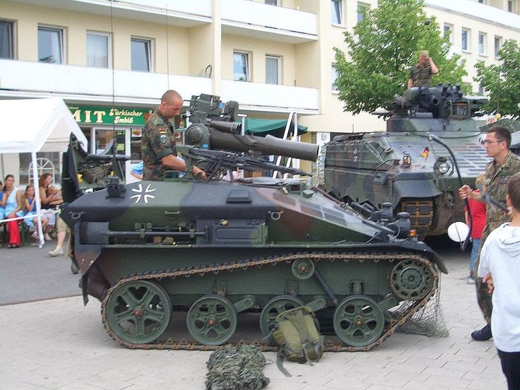 A BGM-71 TOW-armed Wiesel AWC of the German Army.