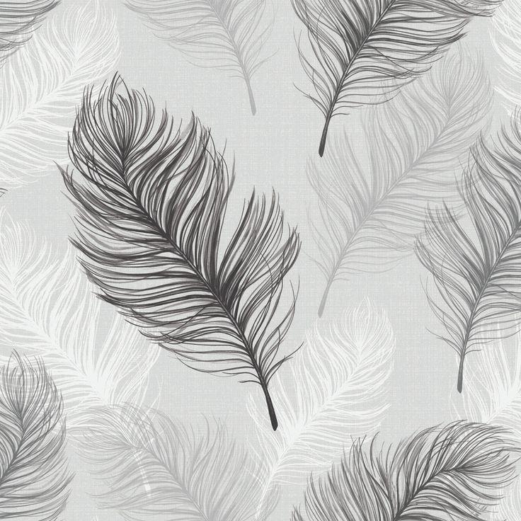 Whisper Black / White wallpaper by Arthouse