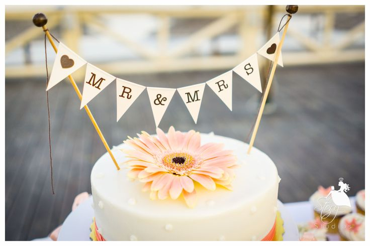 A cute wedding cake topper!