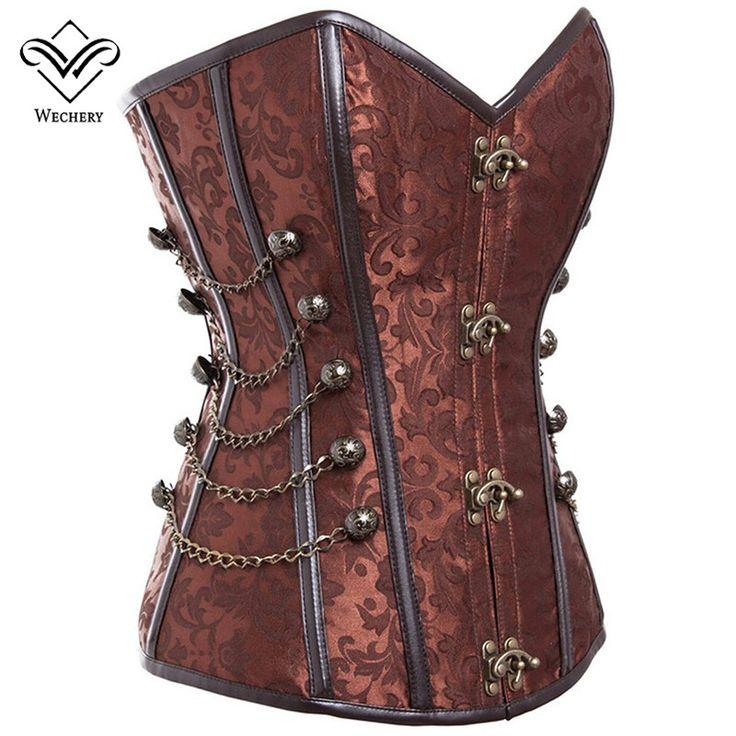 Wechery korsaj steampunk korse seksi korseler ve bustiers slim gotik kadınlar corselet korse çelik kemik artı boyutu busiter s-6xl