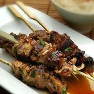 Beef and pork satay sticks | Recipe