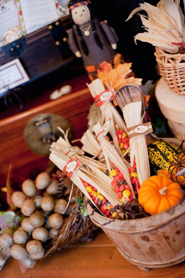 Really neat party favor idea with the corn husks
