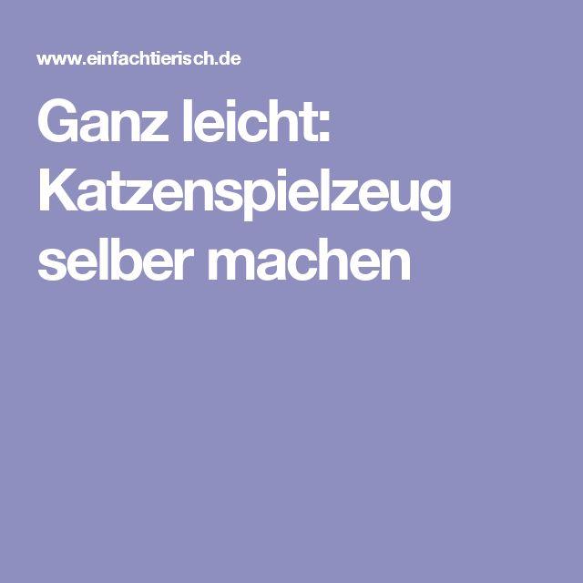 1000 idées sur le thème Katzenspielzeug Selber Machen sur ...