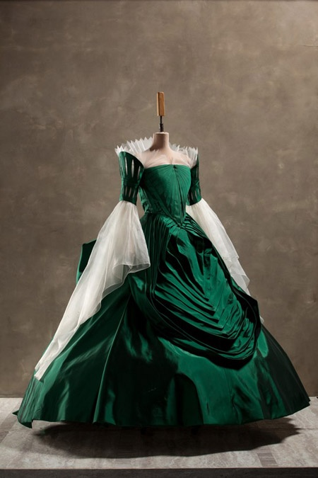 Another of the gowns worn by Julie Roberts as the wicked queen in the 2012 film Mirror, Mirror.