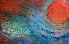'Tsunami' by Uxbridge Ontario painter Carolyn Bather. A graduate of The Ontario…