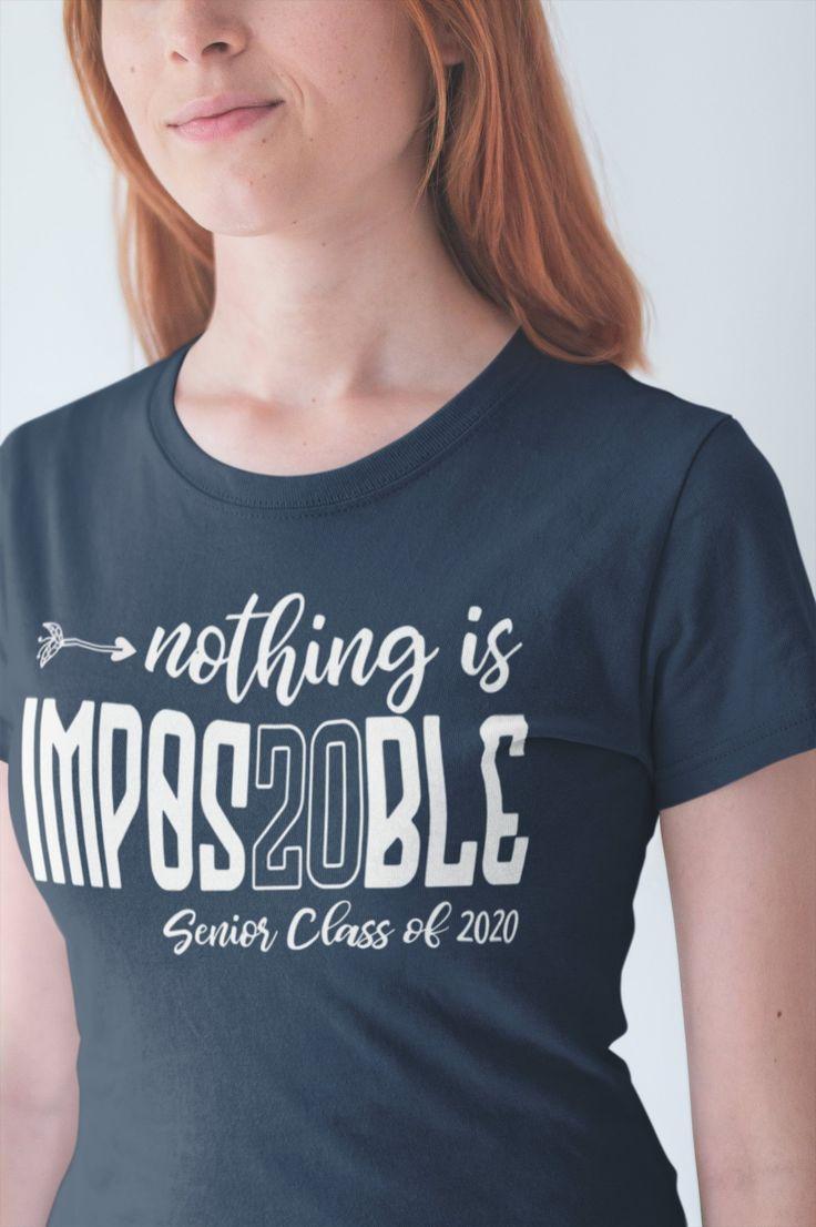 Women's Senior 2020 T Shirt Funny Graduate Tee Nothing