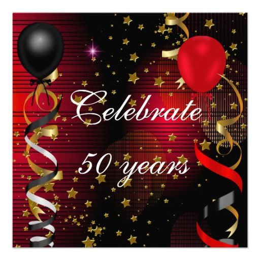Best Fabulous Birthday Party Invitations Images On Pinterest - Red and gold birthday invitation templates