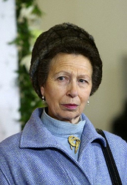 British Princess Anne visits the opening of the Tensar plant in Saint Petersburg, Russia, on 14 Feb 2014.