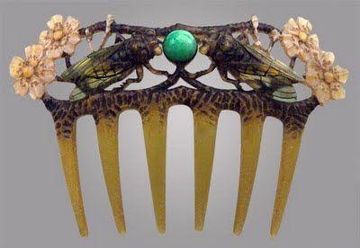 French Cicada Comb, ca. 1900  att. to Elizabeth Bonté