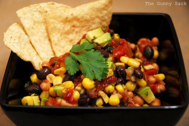 Easy Appetizer ~ Cowboy Caviar with Avocados | The Gunny Sack