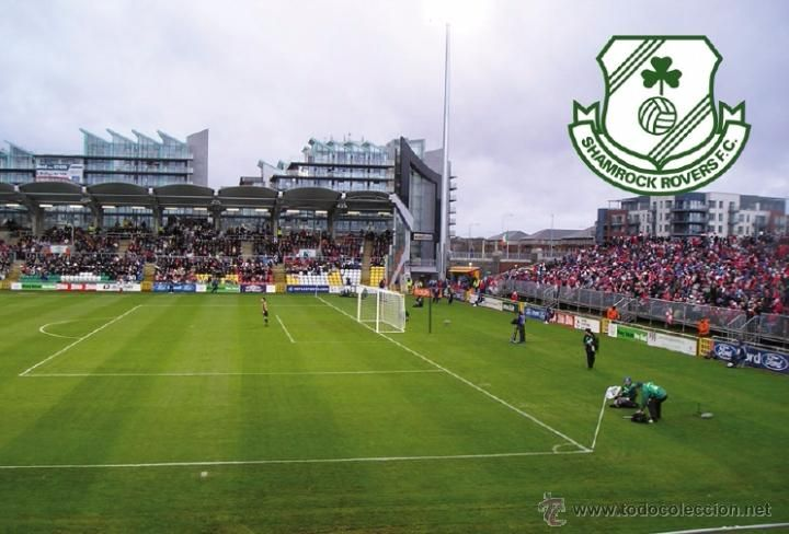 Stadium Tallagh (Shamrock Rovers FC,Ireland) postcard - size: 15x10 cm. aprox