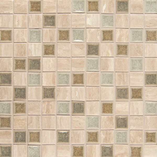 Kisment 1 X 1 Glass Mosaic Tile In Serendipity Mosaic Glass Mosaic Wall Tiles Glass Mosaic Tiles