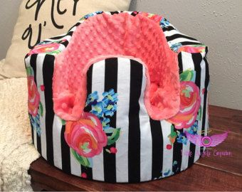 Pink and Leopard Bumbo Seat Cover by LittleAngelsEmporium on Etsy
