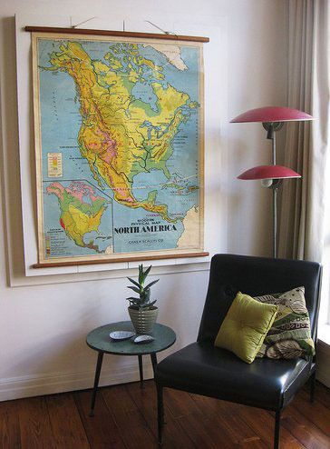 Dcor Inspiration Vintage Wall Maps
