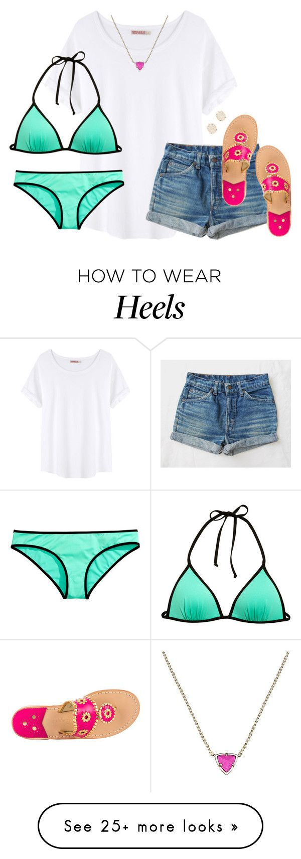 """""""it's way too cold to make a bikini set. but oh """" by kaley-ii on Polyvore featuring Organic by John Patrick, H&M, Jack Rogers and Kendra Scott"""