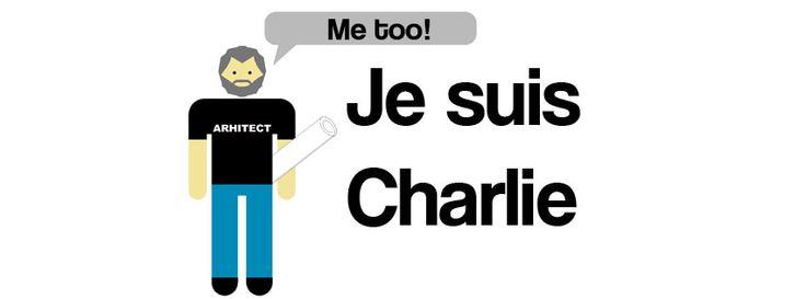 #JeSuisCharlie - Au murit cu creionul în mână! Ca arhitect, această veste este și mai emoționantă. Cariera noastră are nevoie doar de un creion și hârtie.