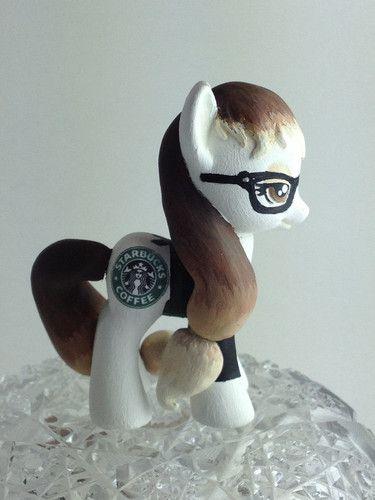 My Little Pony Friendship Is Magic Custom Pony Starbucks Barista Pony | eBay