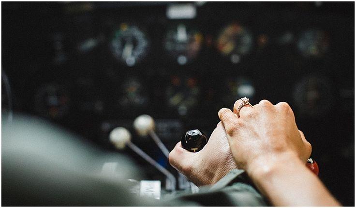 airplane engagement photo