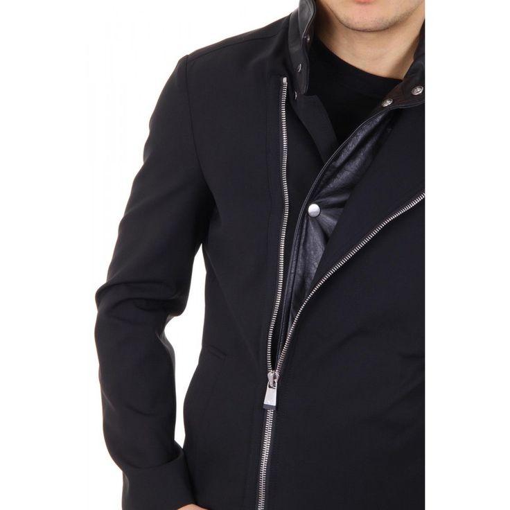 Black 52 IT - 52 US Emporio Armani mens coat R1L770 R1097 999