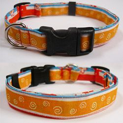 DIY Collar! Find a some fabric, interfacing and the pieces from an old collar to make a personalized collar for your dog.