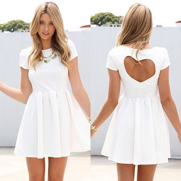 Heart shape cut out dress? I think yes.