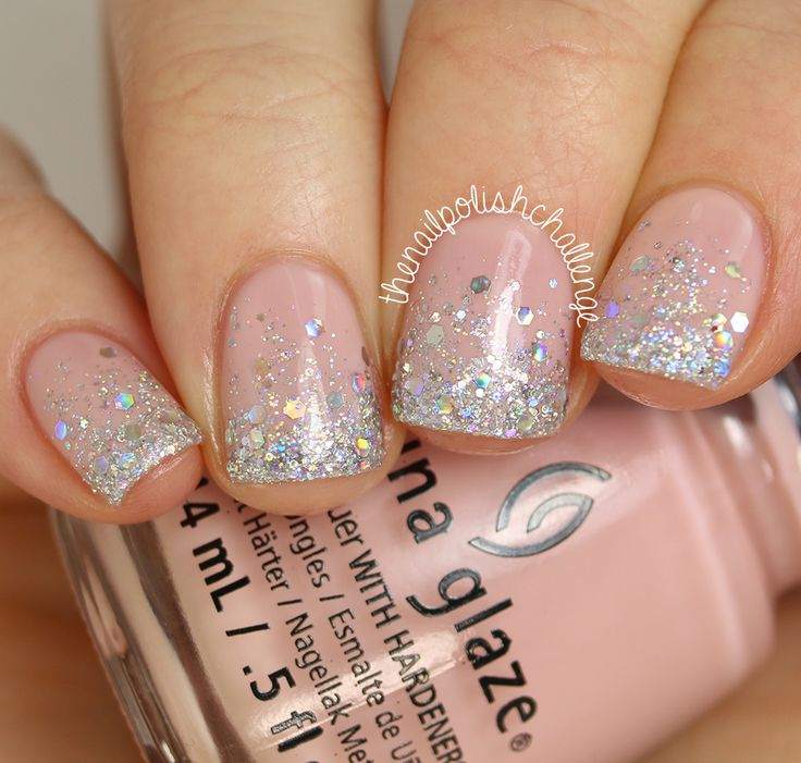Wedding Wednesday: Silver Glitter Gradient (The Nail ...