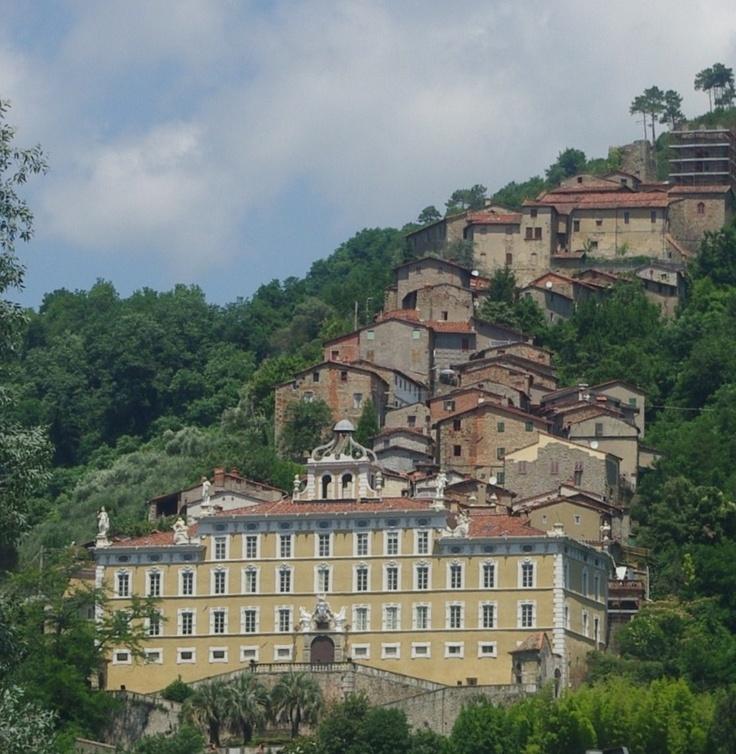 Collodi Village, birthplace of Pinocchio's writer Carlo Collodi.  Villa Garzoni where he lived.