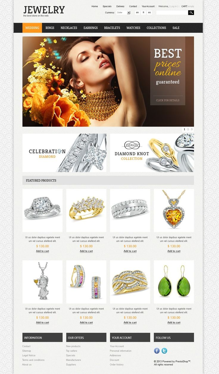 17+ Best Jewelry Store PrestaShop Themes - Jewelry Theme