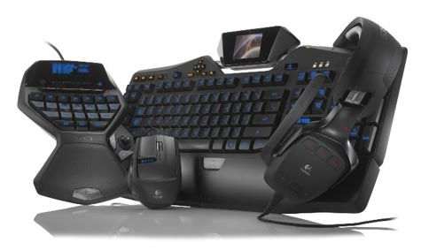 Logitech G19 keyboard ~ Sets color GamePanel LCD that can display data IP communications, clock, CPU load, or other non-specific games, pictures or videos. Logitech G35 surround sound headset features a 7.1 surround sound system. Y Logitech G9x laser offers dpi mouse adjustable and includes 200 to 5000 dpi, the G9x mouse makes it easy to move from pixel precision maneuvers of lightning without interrupting work.