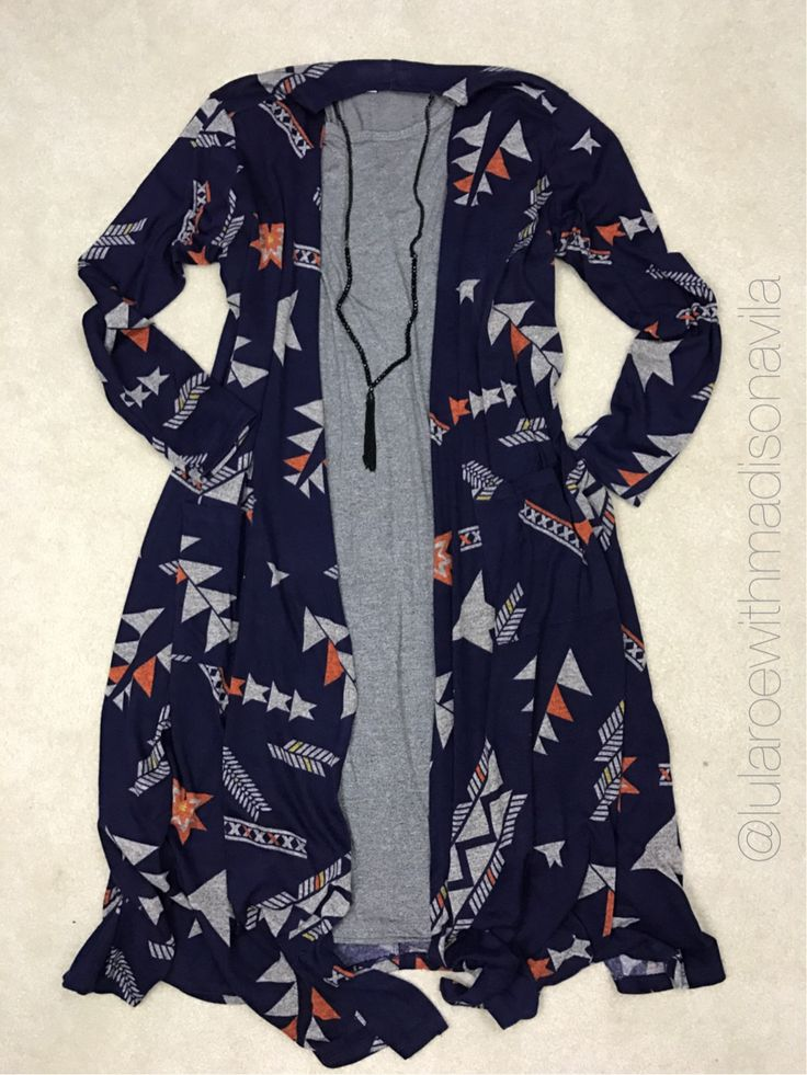 In LOVE with this XL Sarah and Large plain grey Julia. That navy blue with hints of orange in there. O.M.G. Gorgeous. Join my shop for more outfit ideas. Facebook.com/groups/lularoewithmadisonavila