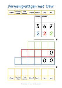 vermenigvuldigen in kleur 212x300 problemen met rekenen dyscalculie