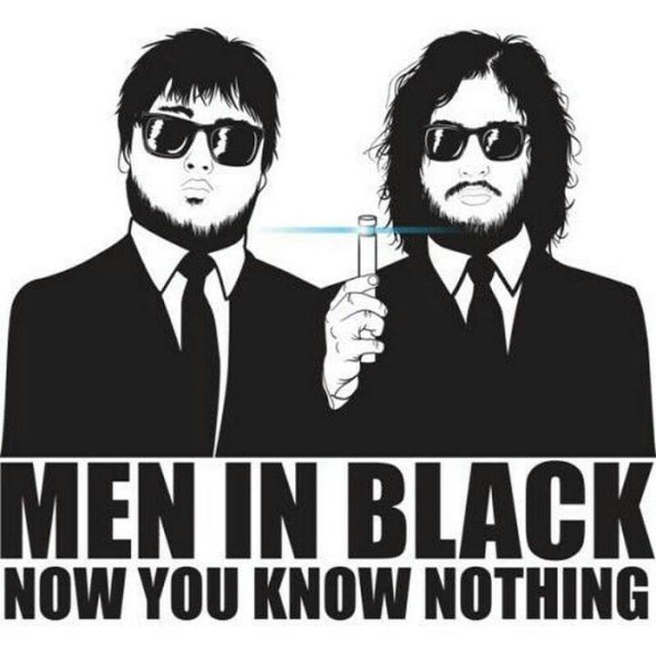 Sam and Jon. Man in black