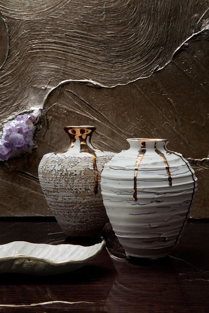 Isis Vases and artwork by Emily Swift-Jones