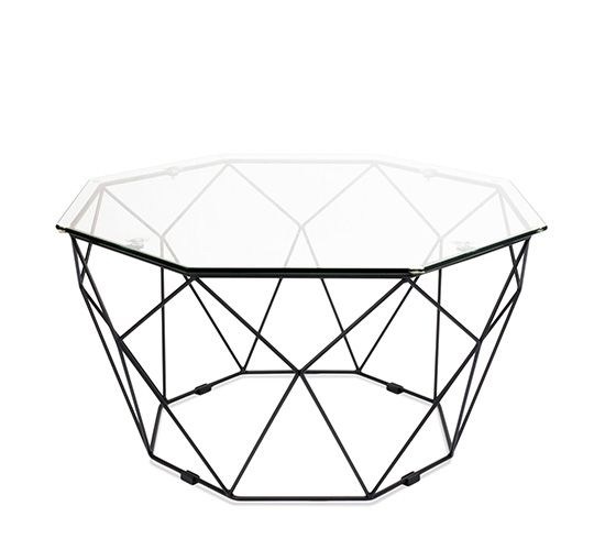 Table basse de Jardin Géométrique Métal Filaire Noir | À acheter ...