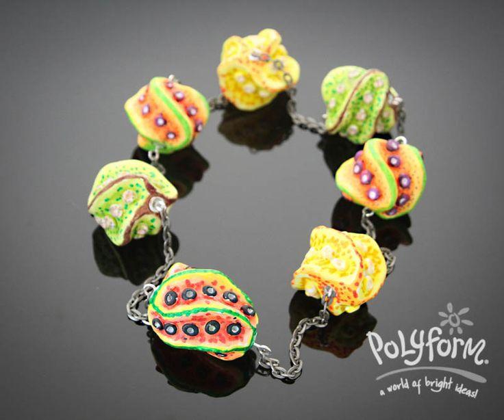 Sculpey Souffle Fruity Bead  Necklace
