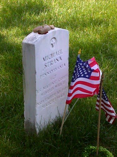 Michael Strank, one of the Iwo Jima Flag Raisers. Description from panoramio.com. I searched for this on bing.com/images