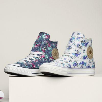 ctas floral print hi converse femme 3 suisses shoes pinterest sports et plein air. Black Bedroom Furniture Sets. Home Design Ideas