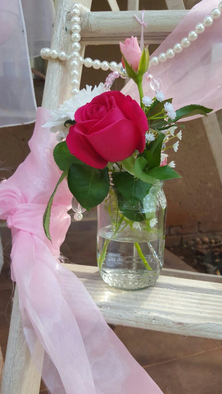 Mason jar Flower arrangement.