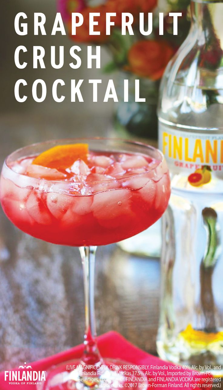 Instead of sticking with a classic, try out a new flavor of liquor. Finlandia's Grapefruit Vodka adds a delicious taste to your cocktails. Make this Grapefruit Crush recipe before your next girl's night out.