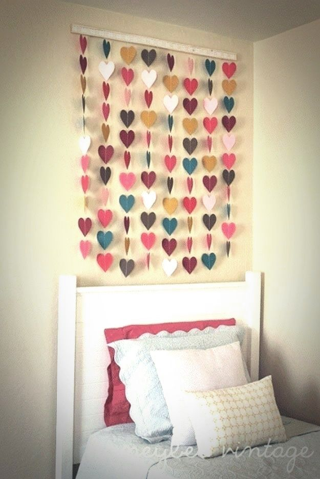 Cute And Easy Crafts Cute Easy Crafts For Fun To Do At Home Girls Room Wall Decor Kids Rooms Diy Diy Room Decor