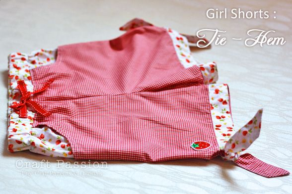 free little girls shorts with printable pattern.