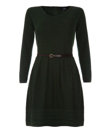 Another great find on #zulily! Green Belted Scoop Neck Dress #zulilyfinds $39.99 from 119.00