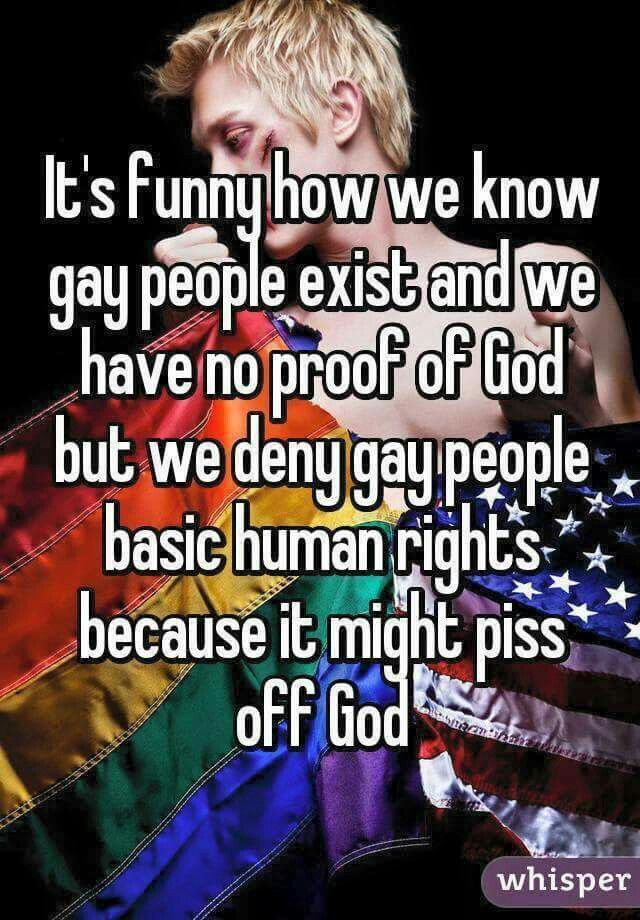 Sadly, this picture shows how some people reject to love and accept Gay people that exist, because they think it is a sin to be gay.