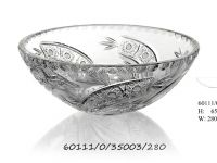 Bohemia Crystal Bowl –  Decor 35003 Comet  Hand blown and hand cut to the finest Czech Traditions of glass cutting.  For more information, please visit www.bomaco.cz