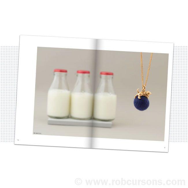 Kittens pendant with milk bottles