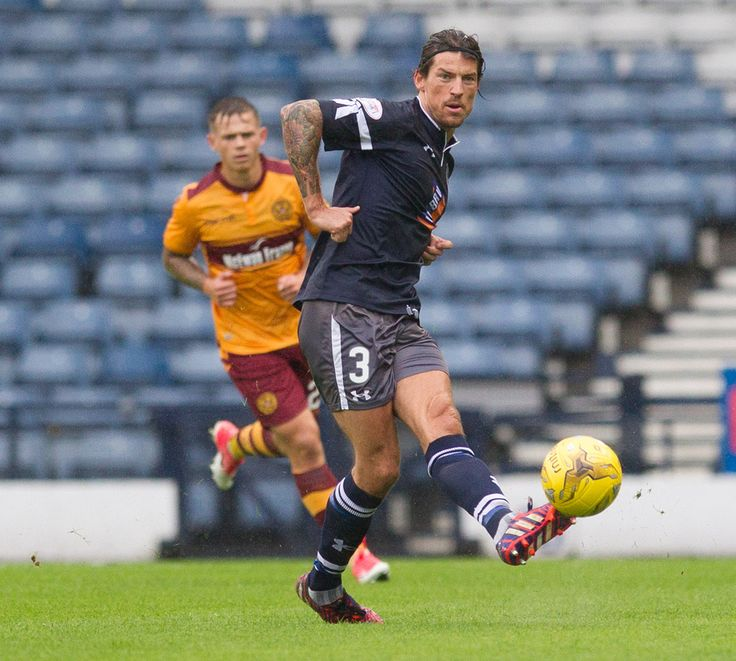 Queen's Park's Ryan Docherty in action during the Betfred Cup game between Queen's Park and Motherwell.