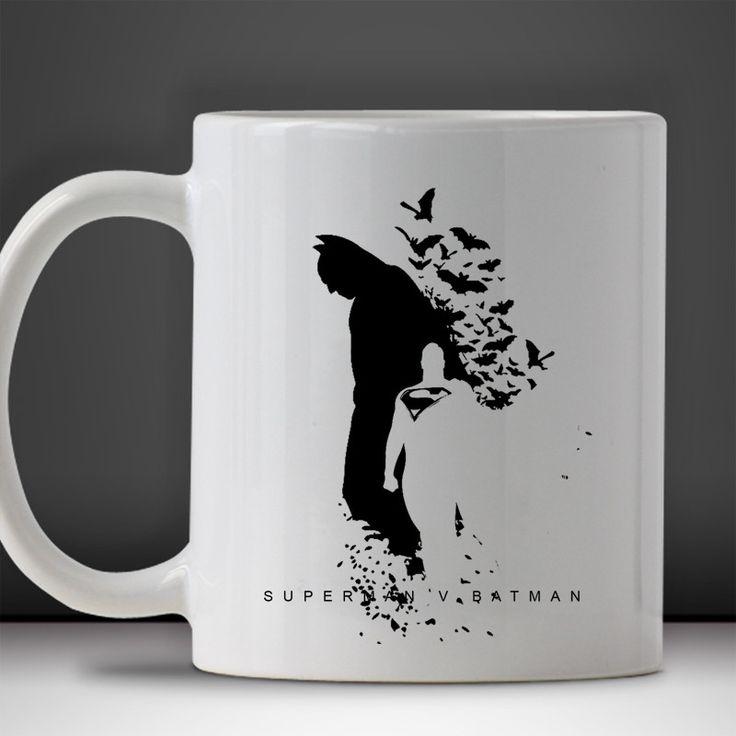 Superman Vs Batman Logo DC Superhero Mug, Tea Mug, Coffee Mug