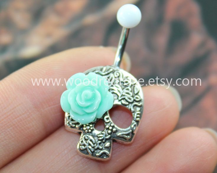 1000 ideas about belly button rings on pinterest belly for Day of the dead body jewelry