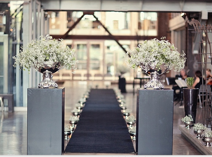 A wedding ceremony set up at the Turbine Hall foyer - images by Tyme photography